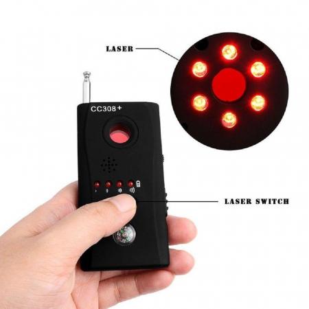 Detector optic-radio pentru camere si microfoane ascunse cu filtru IR, CC308+ [2]
