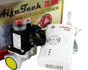 "Detector de gaze cu electrovalva AlfaTech CSL5000 3/4""1"