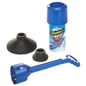 Dispozitiv pentru desfundat scurgerile Plumber's Hero [0]