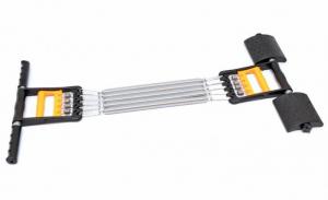 Extensor fitness multifunctional cu arcuri metalice pentru brate, piept si picioare1