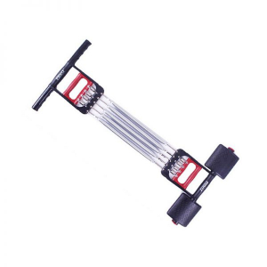 Extensor fitness multifunctional cu arcuri metalice pentru brate, piept si picioare0