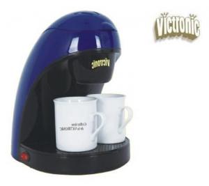 Filtru de cafea cu doua cesti din portelan Victronic VC6090