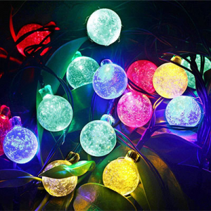Ghirlanda Luminoasa Solara 6.5 m , 30 Globuri cu LED-uri,rezistenta la apa si temperaturi reduse3