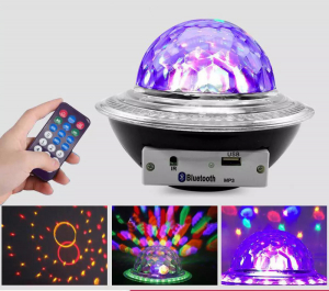 Glob disco cu LED RGB jocuri de lumini si MP3 prin Bluetooth Crystal Magic Balll1