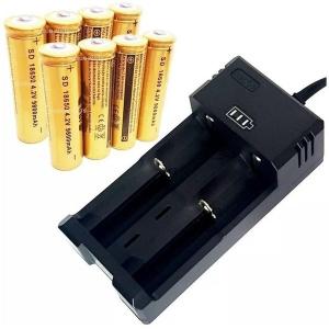 Incarcator pentru 2 acumulatori sau baterii reincarcabile 500mA cu decuplare automata0