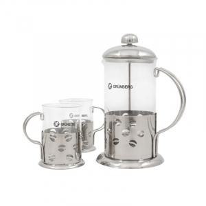 Infuzor ceai sau cafea cu 2 cani Grunberg GR3640