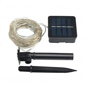 Instalatie solara pentru casa sau gradina 120 LED cu 14 m si lumina calda [2]