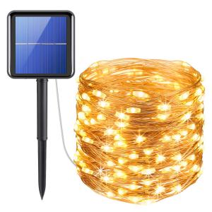 Instalatie solara pentru casa sau gradina 120 LED cu 14 m si lumina calda0