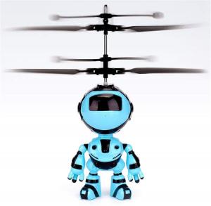 Jucarie interactiva Robot care zboara, reincarcabila cu USB3