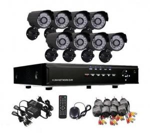 Kit 8 camere de supraveghere exterior cu infrarosu CCTV DVR Internet D10