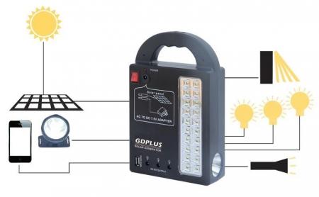 Kit cu panou solar pentru camping si drumetii, Gdplus GD8215 [2]