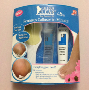 Kit pentru ingrijirea calcaielor Callous Clear1