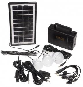 Kit sistem iluminare cu incarcare solara GDLITE GD-8006A, si 3 becuri LED [0]
