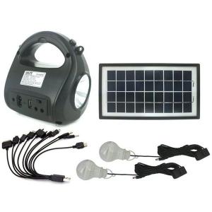 Kit sistem solar Gdlite GD-8009, cu slot citire prin USB si slot TF Card [0]