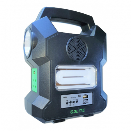 Kit solar portabil Gdlite GD-1000A, cu USB, Bluetooth, Radio FM, MP3 Player si 4 becuri incluse [0]