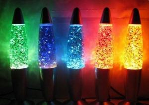 Lampa cu sclipici decorativa mica Glitter Lava Lamp0
