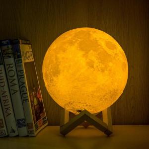 Lampa decorativa 3D Moonlight cu USB si luminozitate ajustabila4
