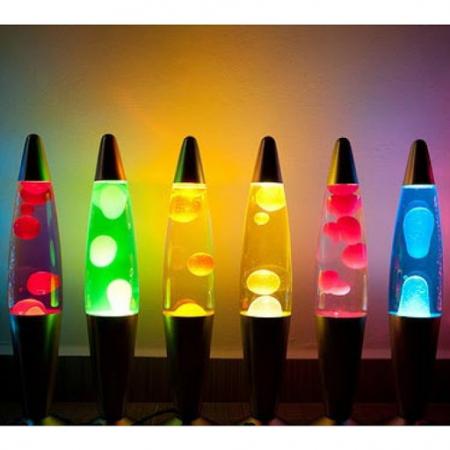 Lampa decorativa Lava Lamp, cu ceara colorata miscatoare [2]