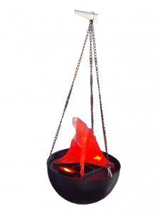 Lampa electrica ce imita flacarile cu flacara falsa4