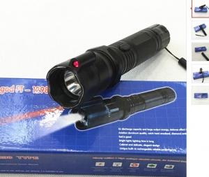 Lanterna cu electrosocuri pentru autoaparare cu laser HY-12981