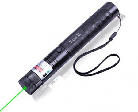 Laser pointer verde putere 1000 mW cu acumulator si incarcator, YL-Laser 303 [2]