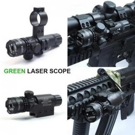 Laser pointer verde pentru arma,pistol airsoft cu prindere pe sina [2]