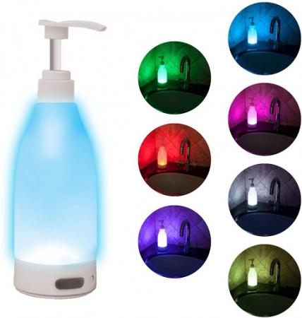Dozator de sapun cu lumina LED si senzor de miscare, Soap Brite 400ml0