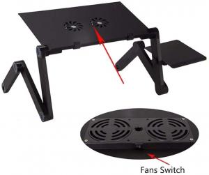 Masuta pliabila si reglabila pentru laptop cu 2 ventilatoare T63