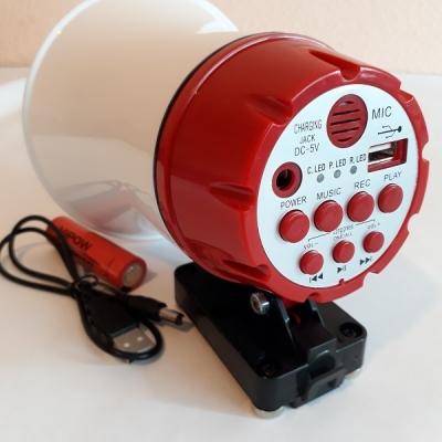Portavoce megafon auto cu inregistrare si redare de pe USB, Voice player 15 Watti [3]