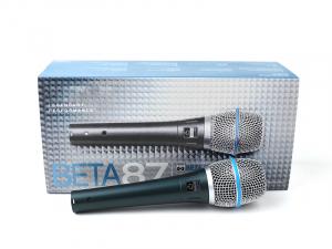 Microfon profesional cu fir supercardioid Shure Beta 87A3