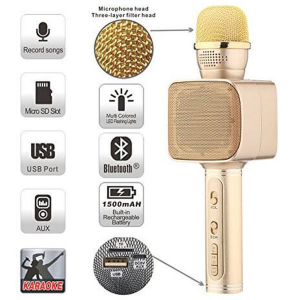 Microfon Karaoke cu Bluetooth/USB/Slot Card Magic Karaoke YS-680