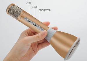Microfon mini pentru karaoke cu boxe si bluetooth KTV-K0681