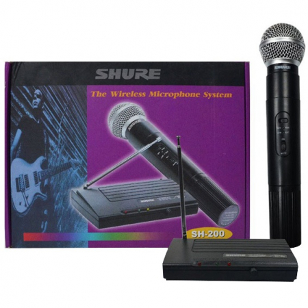 Microfon profesional wireless Shure SH-200 VHF, modulare FM [1]