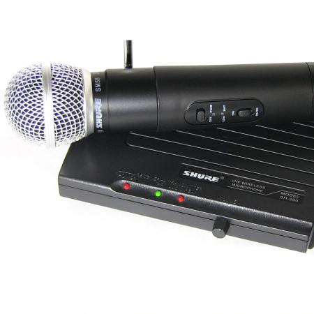 Microfon profesional wireless Shure SH-200 VHF, modulare FM [3]