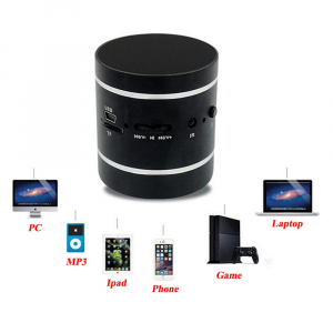 Mini Boxa cu Amplificare prin Vibratii Sunet 360 de grade Radio si MP33