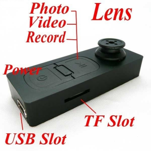 Mini camera video spion in forma de nasture0