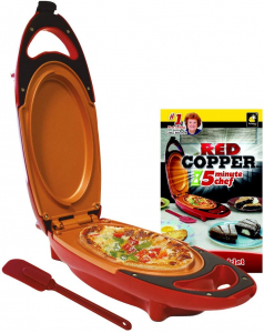 Mini tigaie electrica pentru gatit rapid Red Copper 5 minutes Chef0