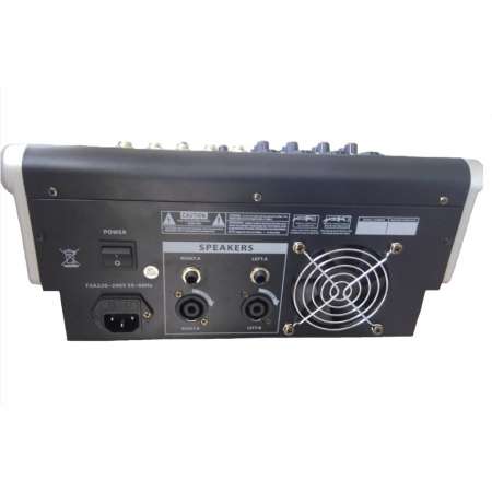 Mixer amplificat profesional WVNGR KA-40, cu 4 canale, 4 intrari microfon si cititor USB [2]