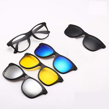Ochelari de soare magnetici 5 in 1 Magic Vision, cu lentile interschimbabile [4]