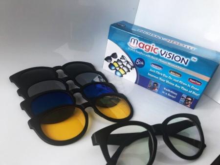 Ochelari de soare magnetici 5 in 1 Magic Vision, cu lentile interschimbabile [2]