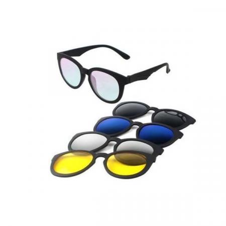Ochelari de soare magnetici 5 in 1 Magic Vision, cu lentile interschimbabile [1]