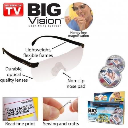 Ochelari speciali de marit cu lupa pana la 60%,Big Vision4