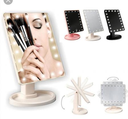 Oglinda cosmetica iluminata cu 22 LED Make Up touch2