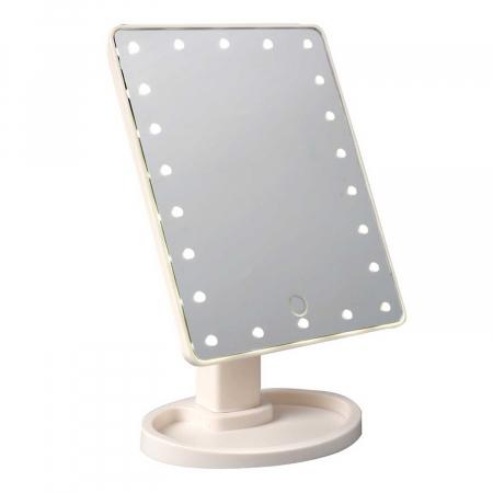 Oglinda cosmetica iluminata cu 22 LED Make Up touch1