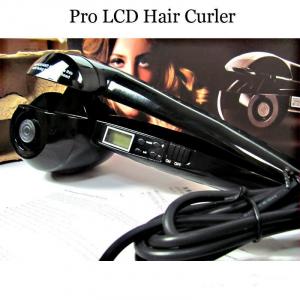 Ondulator de par Pro LCD Hair Curler cu display LCD0