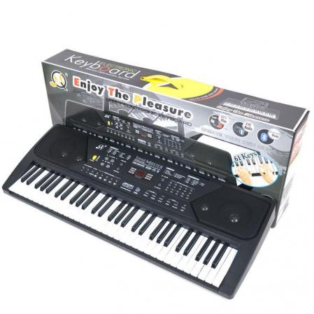 Orga electronica 61 clape MQ-600UFB, cu display, Bluetooth, microfon, Radio Fm, USB MP3 player [3]