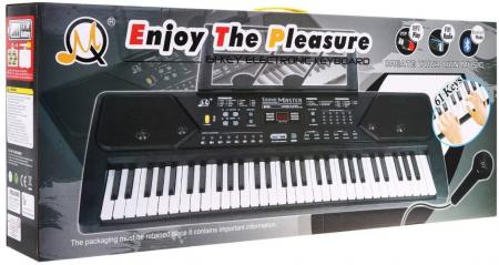 Orga electronica 61 clape MQ-600UFB, cu display, Bluetooth, microfon, Radio Fm, USB MP3 player [4]