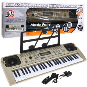 Orga electronica cu 54 clape MQ-807USB si boxe, microfon,Usb Stick Mp3 Player0