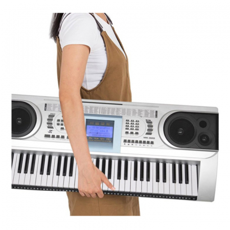 Orga electronica semiprofesionala cu 61 de clape MK-920,LCD, 100 timbre, 100 ritmuri, 6 melodii demo, boxe incorporate [2]