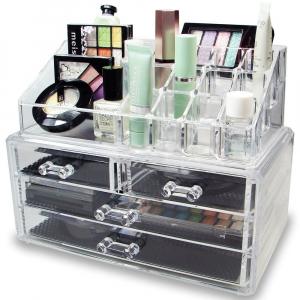 Organizator de cosmetice din acril transparent0